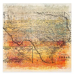 Marmont Hill Texas Map Canvas Wall Art