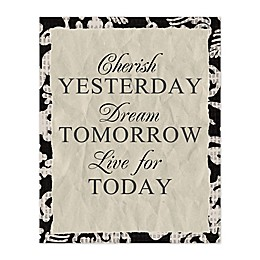 Yesterday Tomorrow Today Canvas Wall Art