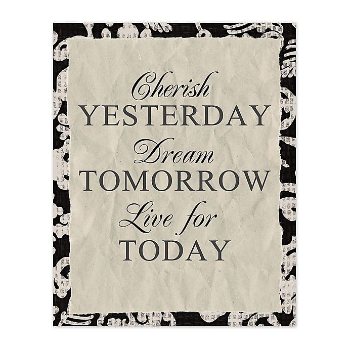 Alternate image 1 for Yesterday Tomorrow Today 8-Inch x 10-Inch Canvas Wall Art