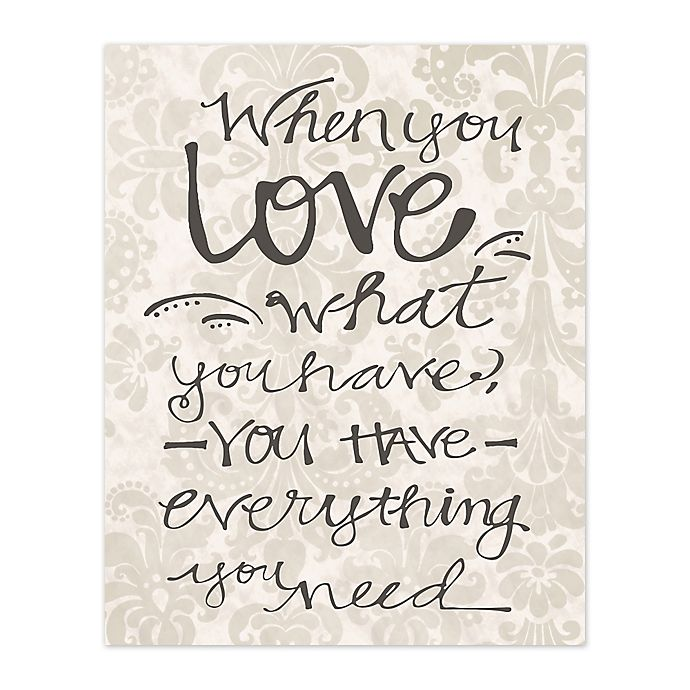 Alternate image 1 for You Have Love 8-Inch x 10-Inch Canvas Wall Art
