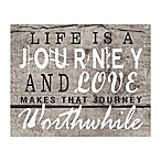 Worthwhile Journey 10-Inch x 8-Inch Canvas Wall Art