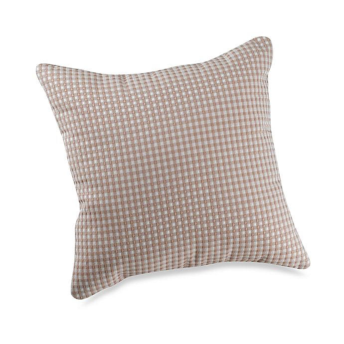 Alternate image 1 for Glenna Jean Central Park Checked Throw Pillow in Tan
