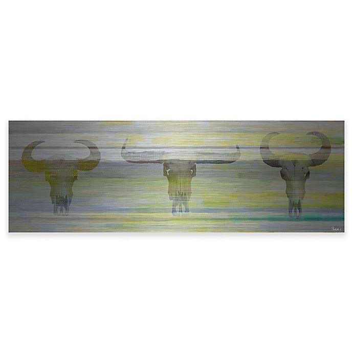 Alternate image 1 for Parvez Taj Three Skulls Aluminum Wall Art