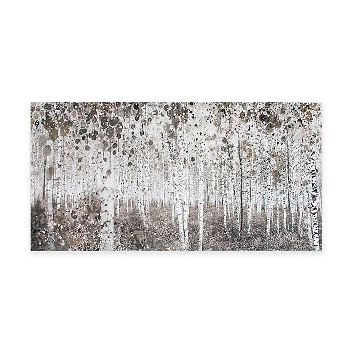 Alternate image 1 for Graham Brown Neutral Watercolor Woods 47-Inch x 24-Inch Canvas Wall Art