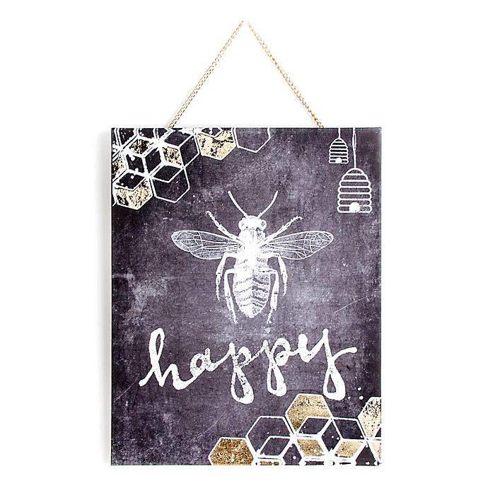 Alternate image 1 for Graham & Brown Bee Happy Printed Canvas Wall Art