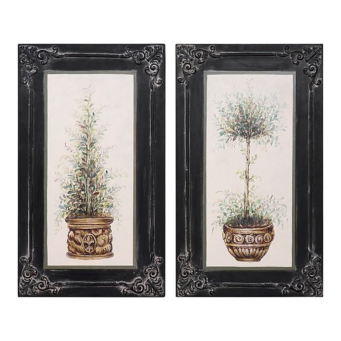 Uttermost Topiaries Hand-Painted Wall Art (Set of 2) | Bed ...