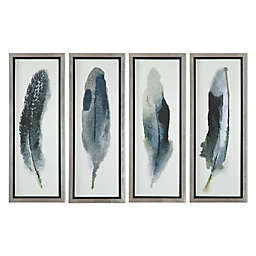Uttermost Feathered Beauty 14-Inch x 38-Inch Wall Art Prints (Set of 4)