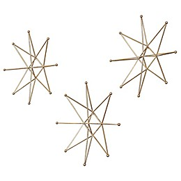 Uttermost Gold Stars Wall Art (Set of 3)