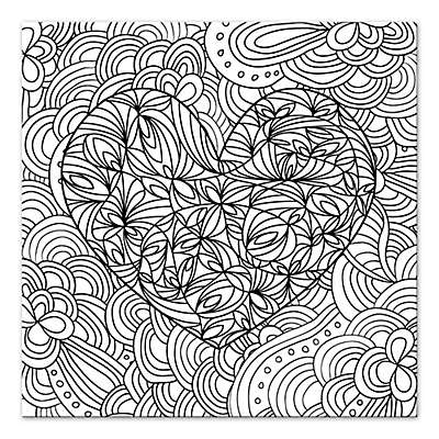 Passionate Entanglement Custom Coloring Canvas Wall Art