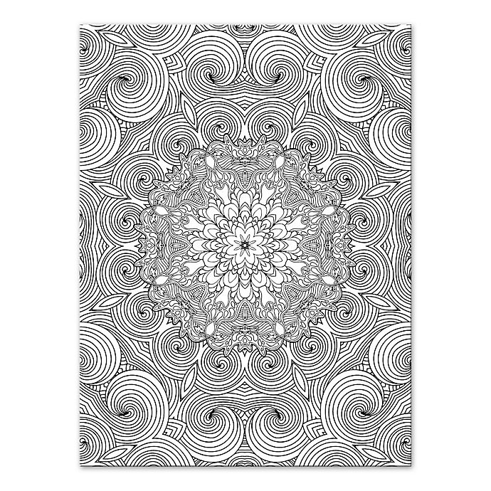 Alternate image 1 for Botanical Whirlpool Coloring Canvas Wall Art