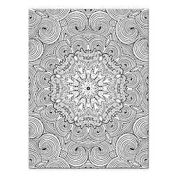 Botanical Whirlpool Custom Coloring 12-Inch x 16-Inch Canvas Wall Art