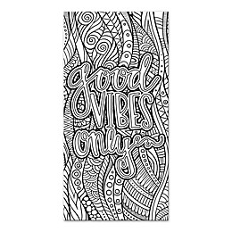 """Good Vibes Only"" Custom Coloring Canvas Wall Art"