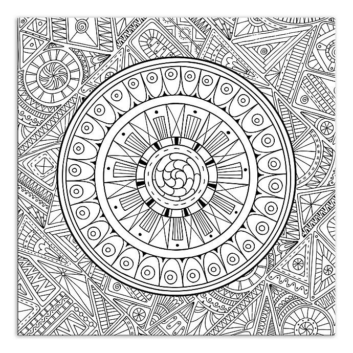 Alternate image 1 for Zen Mandala Custom Coloring 16-Inch x 16-Inch Canvas Wall Art
