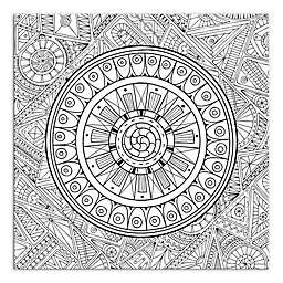 Zen Mandala Custom Coloring Canvas Wall Art
