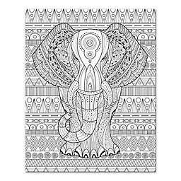 Elephant Enchantment Custom Coloring Canvas Wall Art