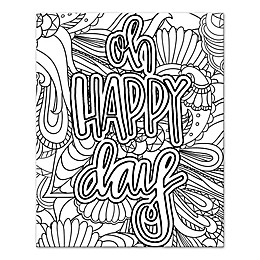 """Oh Happy Day"" Coloring Canvas Wall Art"