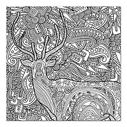 Whimsical Woods Custom Coloring Canvas Wall Art