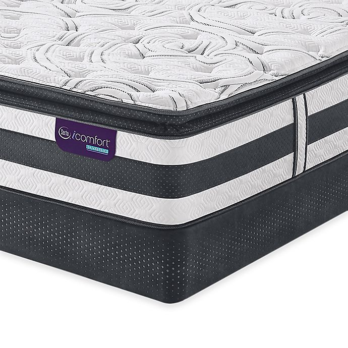 Serta Icomfort Hybrid Observer Super Pillow Top Mattress Set Bed