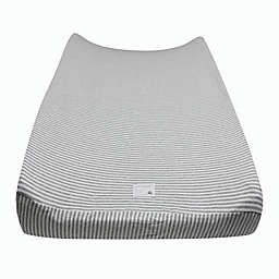 Burt's Bees Baby® Organic Cotton Striped Changing Pad Cover in Heather Grey