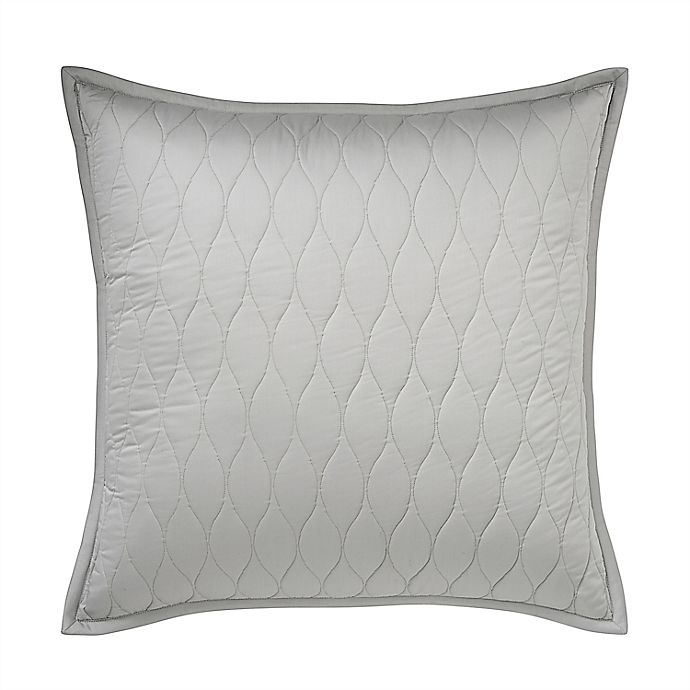 Alternate image 1 for Under The Canopy® Ogee 300-Thread-Count Organic Cotton European Pillow Sham in Grey