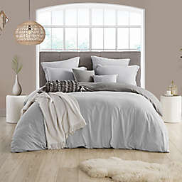 Swift Home Prewashed 2-Piece Reversible Twin/Twin XL Duvet Cover Set in Silver/Grey