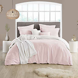 Swift Home Prewashed 3-Piece Reversible Full/Queen Duvet Cover Set in Pink/White