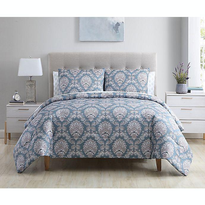 Alternate image 1 for Ellen Tracy Florence 7-Piece King Comforter Set in Teal