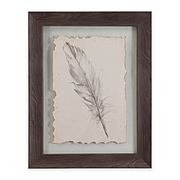 Bassett Mirror Company Feather Sketch III Framed Wall Art