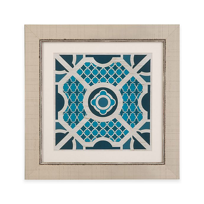 Alternate image 1 for Bassett Mirror Company Indigo Lattice II Framed Wall Art