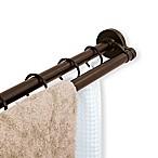 TITAN® NeverRust® 72-Inch Aluminum Double Straight Tension Shower Rod in Bronze