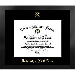 University of North Texas 19-Inch x 22-Inch Gold Foil Seal Diploma Frame in Black