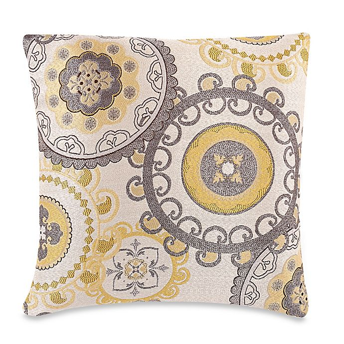 Make Your Own Pillow Equinox Throw Pillow Cover in Yellow/Grey