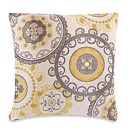 Make-Your-Own-Pillow Equinox Throw Pillow Cover in Yellow/Grey