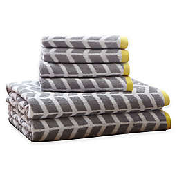 Intelligent Design Nadia 6-Piece Cotton Jacquard Towel Set