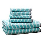 Intelligent Design Nadia 6-Piece Cotton Jacquard Towel Set in Teal