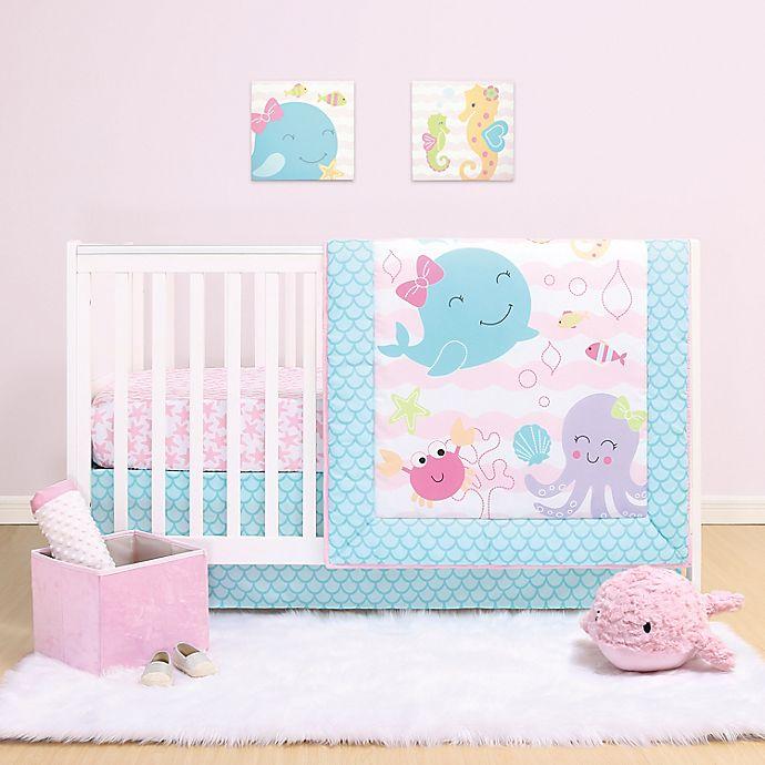 Alternate image 1 for The Peanutshell™ Sea Sweetie 3-Piece Crib Bedding Set