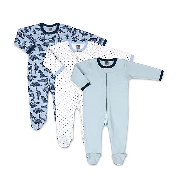 Alternate image 1 for The Peanutshell™ 3-Pack Dinos and Dots Footies