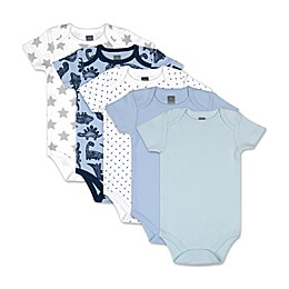 PS by The Peanutshell® 5-Pack Dinos and Dots Short Sleeve Bodysuits