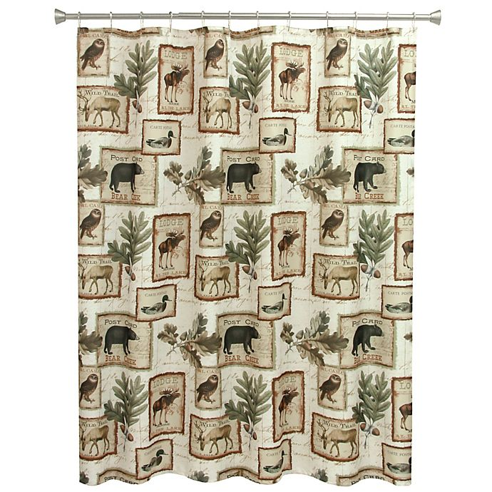 Alternate image 1 for Bacova Lodge Memories Shower Curtain