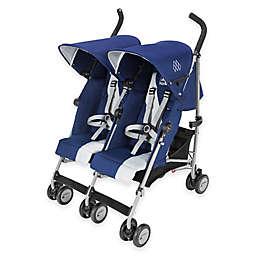 Maclaren® Twin Triumph Double Stroller in Blue/Silver