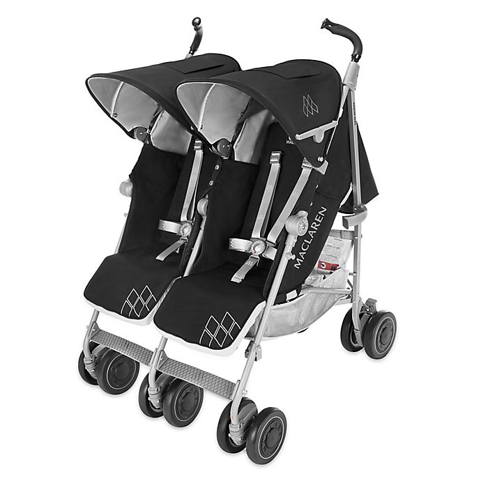 Alternate image 1 for Maclaren® Twin Techno Stroller in Black