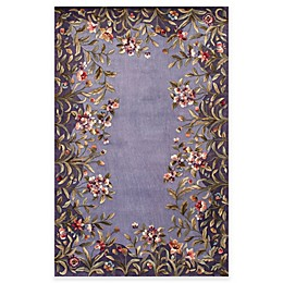 Kas Emerald Garden Handcrafted Area Rug in Lavender