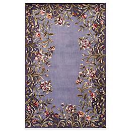 Kas Emerald Garden Handcrafted Area Rug in Lavender