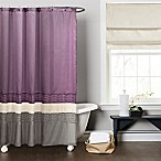 Mia Shower Curtain in Purple/Grey