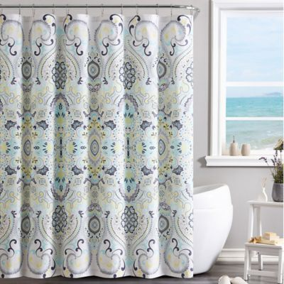 VCNY Amherst Shower Curtain In Yellow Blue