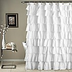 Ruffle Shower Curtain in White