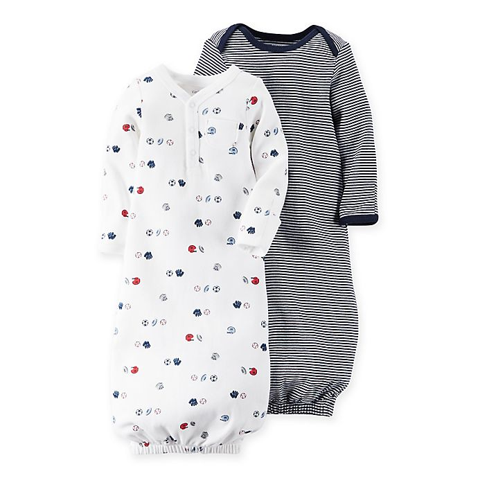 carter\'s® Newborn 2-Pack Babysoft Sports Sleeper Gowns | buybuy BABY
