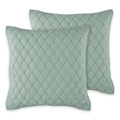 Kala European Pillow Sham In Seafoam Bed Bath Amp Beyond