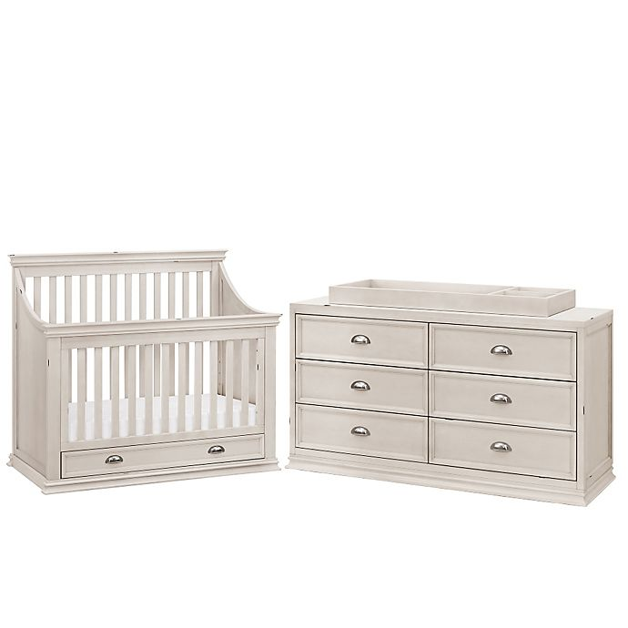 Franklin & Ben Mason Baby Furniture Collection in Distressed White