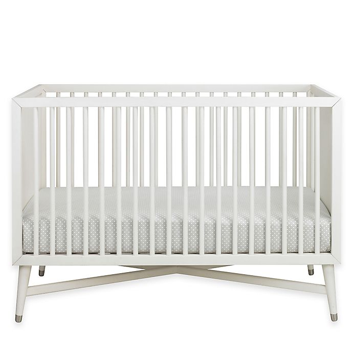 Alternate image 1 for DwellStudio Mid-Century 3-in-1 Convertible Crib in French White